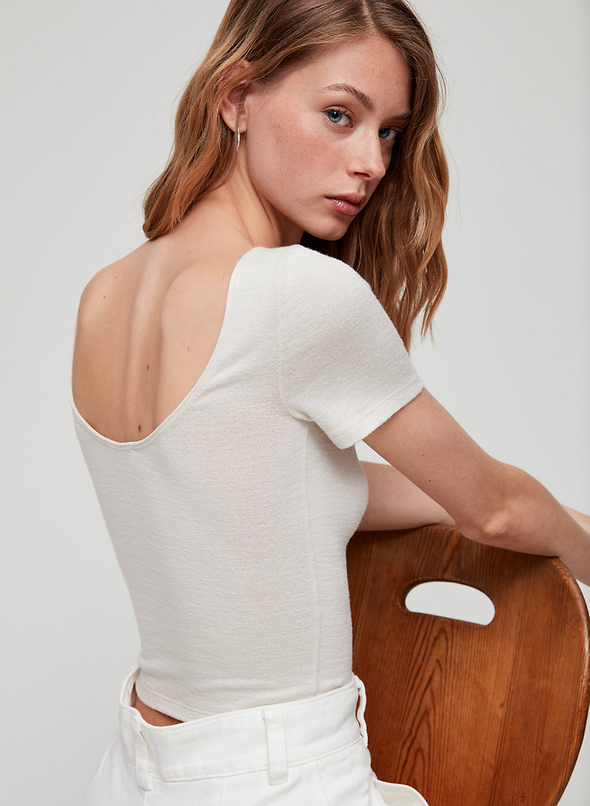 JULIANA T-SHIRT - Cropped scoop-back t-shirt