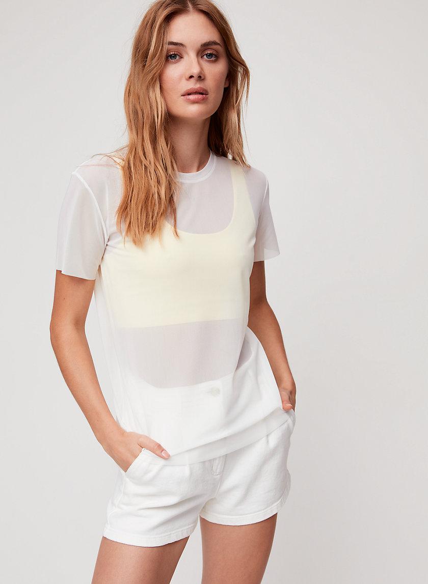 JAMILLA T-SHIRT - Mesh crewneck t-shirt