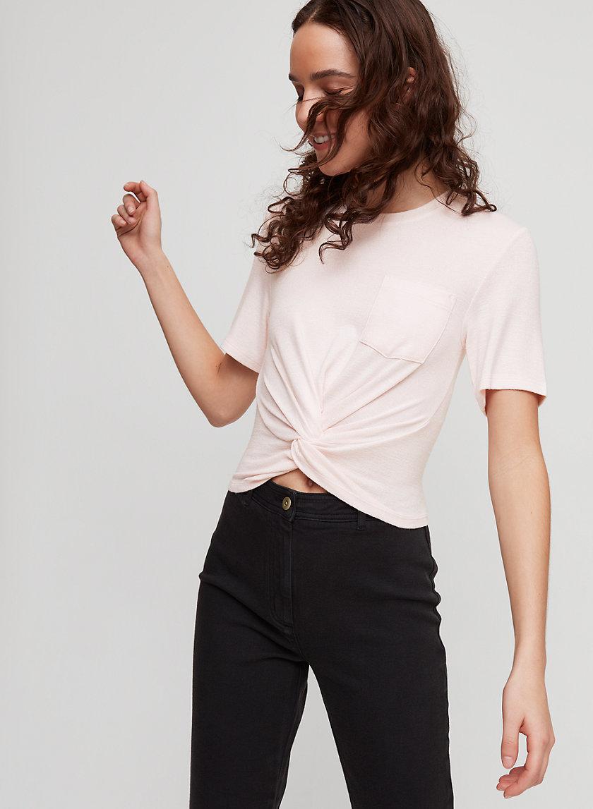 SUBAH T-SHIRT - Front-knot, jersey t-shirt
