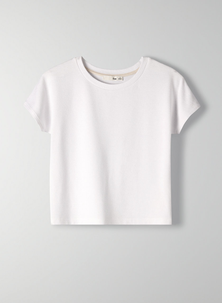 JACEY CROPPED TOP - Cropped bodycon t-shirt