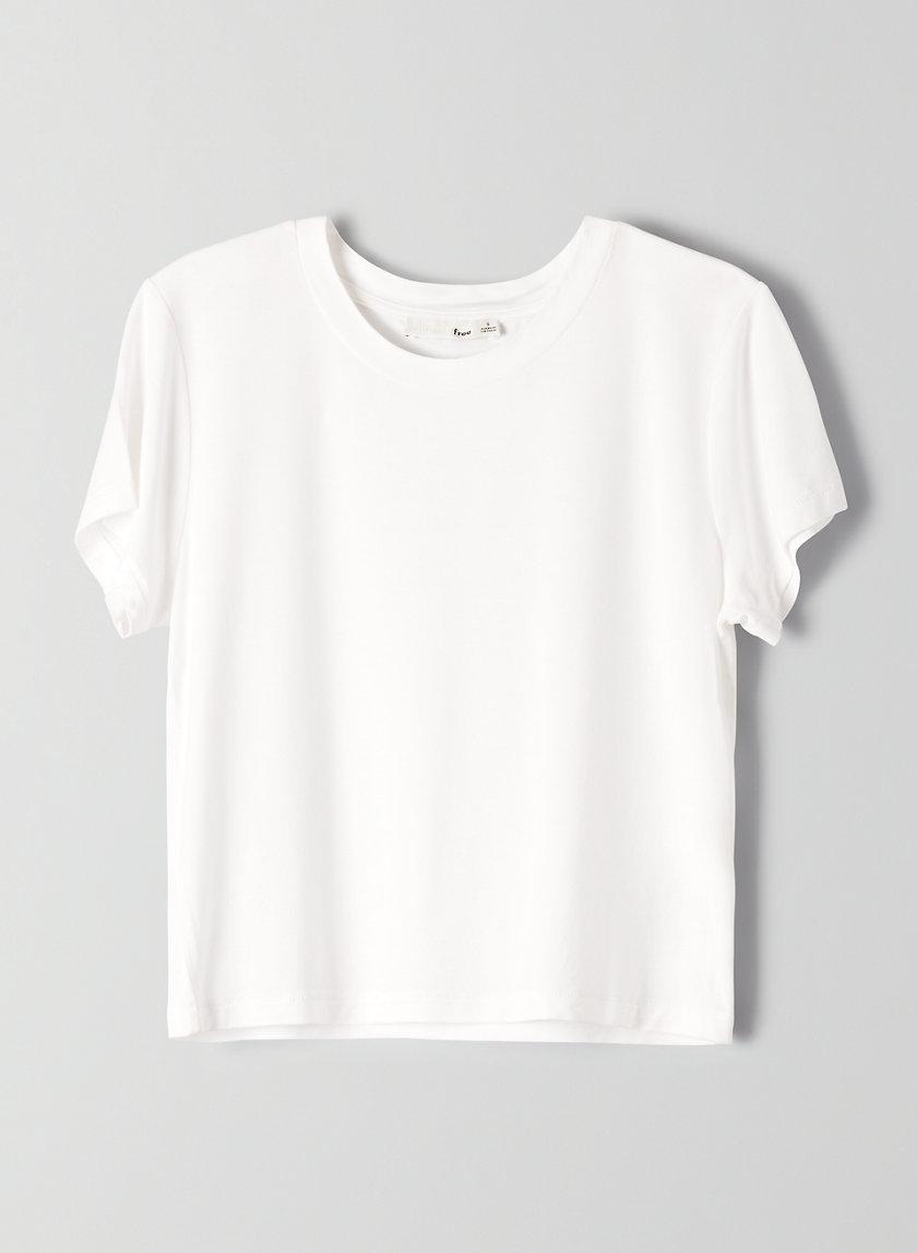 AMANDA T-SHIRT - Cropped, crewneck t-shirt