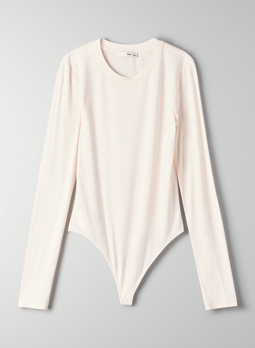 SOMER BODYSUIT - Long-sleeve, thong bodysuit