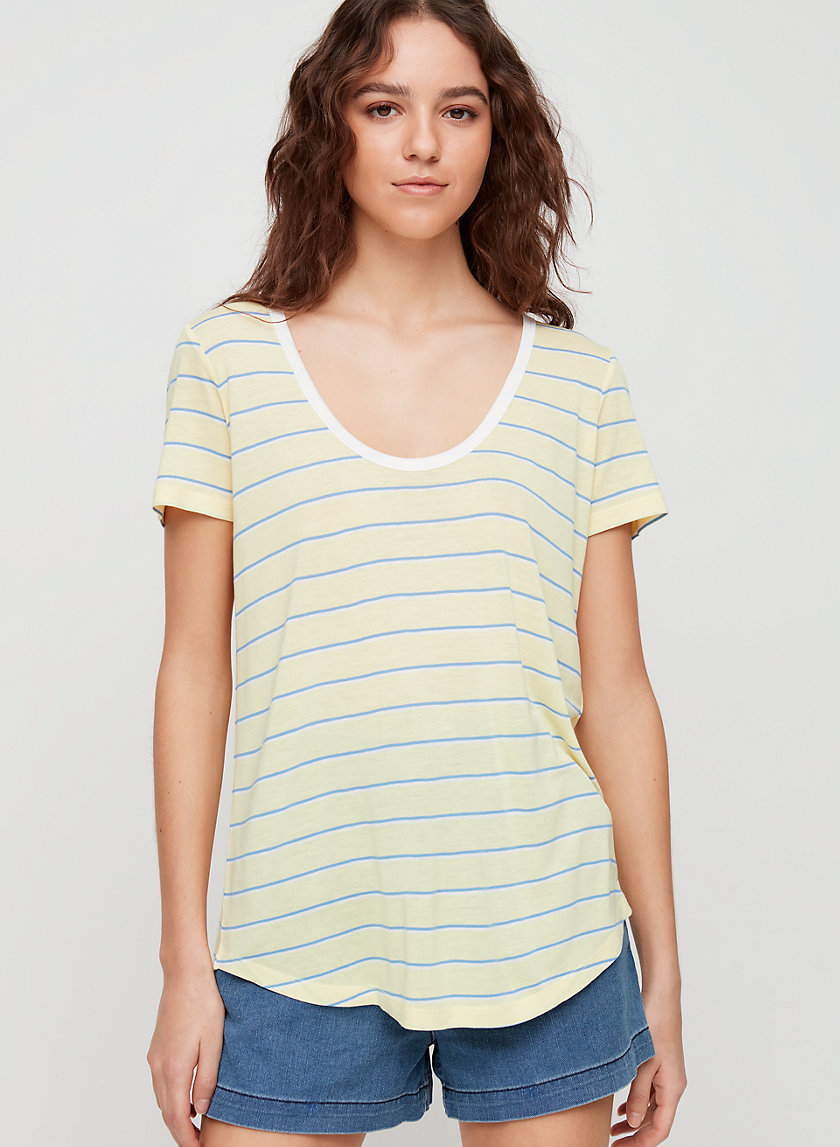 VALMERE T-SHIRT - Stripe scoop neck t-shirt