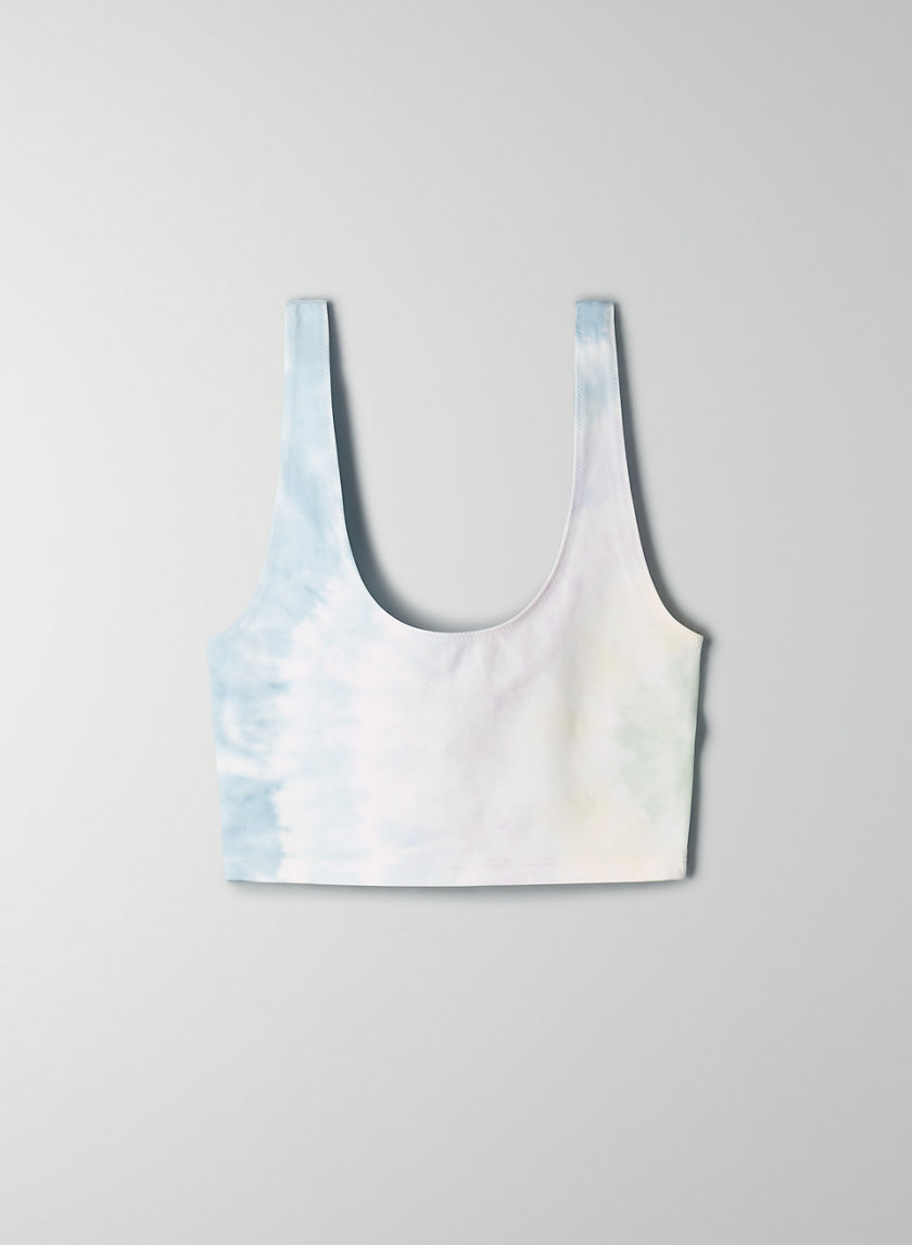 KOS TANK - Cropped tie dye tank top