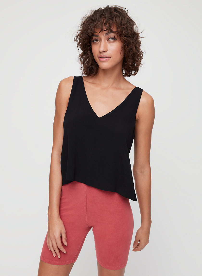 KEMPNER BLOUSE - Sleeveless, tie-back top