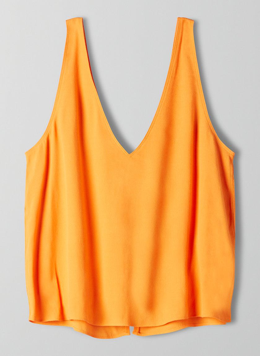KEMPNER BLOUSE - Sleeveless, tie-back top