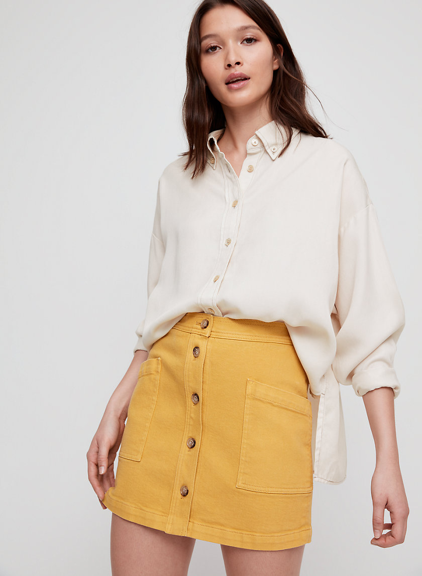 TANIS SHIRT - Collared, button-down blouse