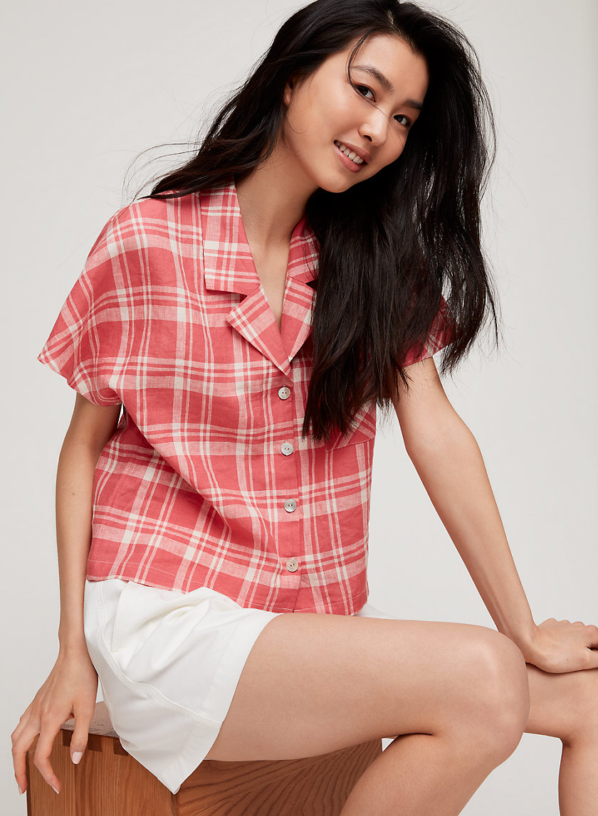 SHAWNA BLOUSE - Short-sleeve button-up blouse