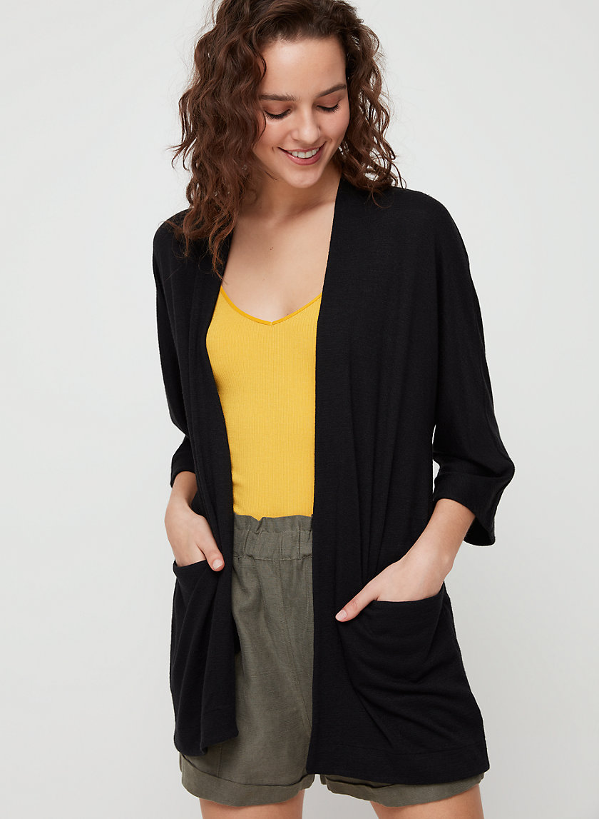 ZLATA SWEATER - Open-front cardigan with pockets