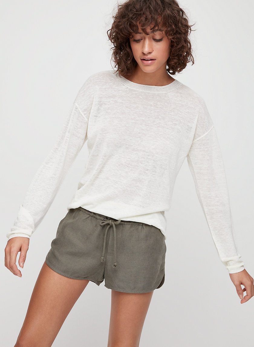 ISABELLI SWEATER - Boxy, lined-blend sweater