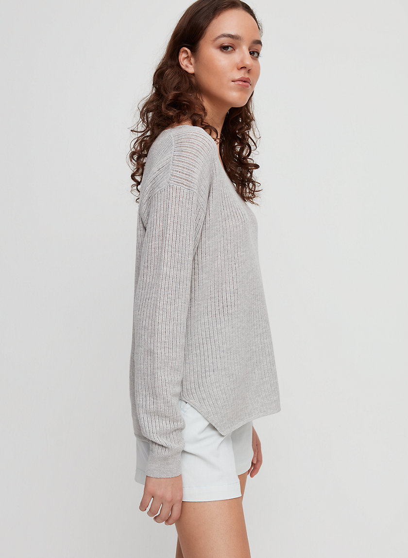 WOLTER SWEATER - Merino-wool V-neck sweater