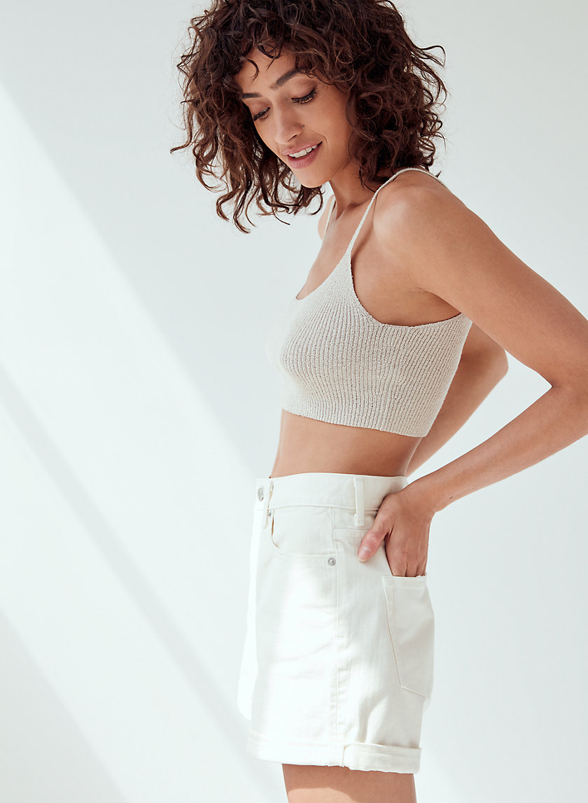 JOSS SWEATER - Cropped, knit tank top