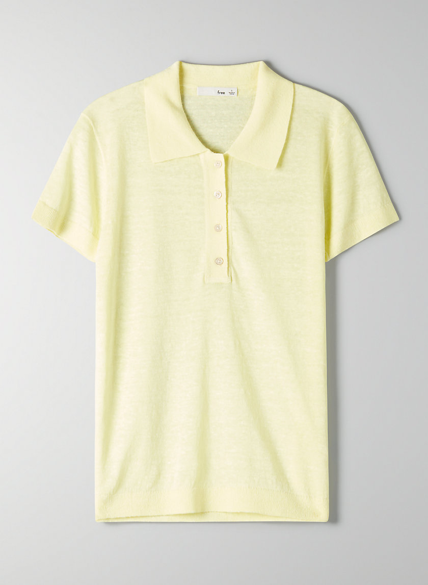 TAYLA KNIT TOP - Knit polo top
