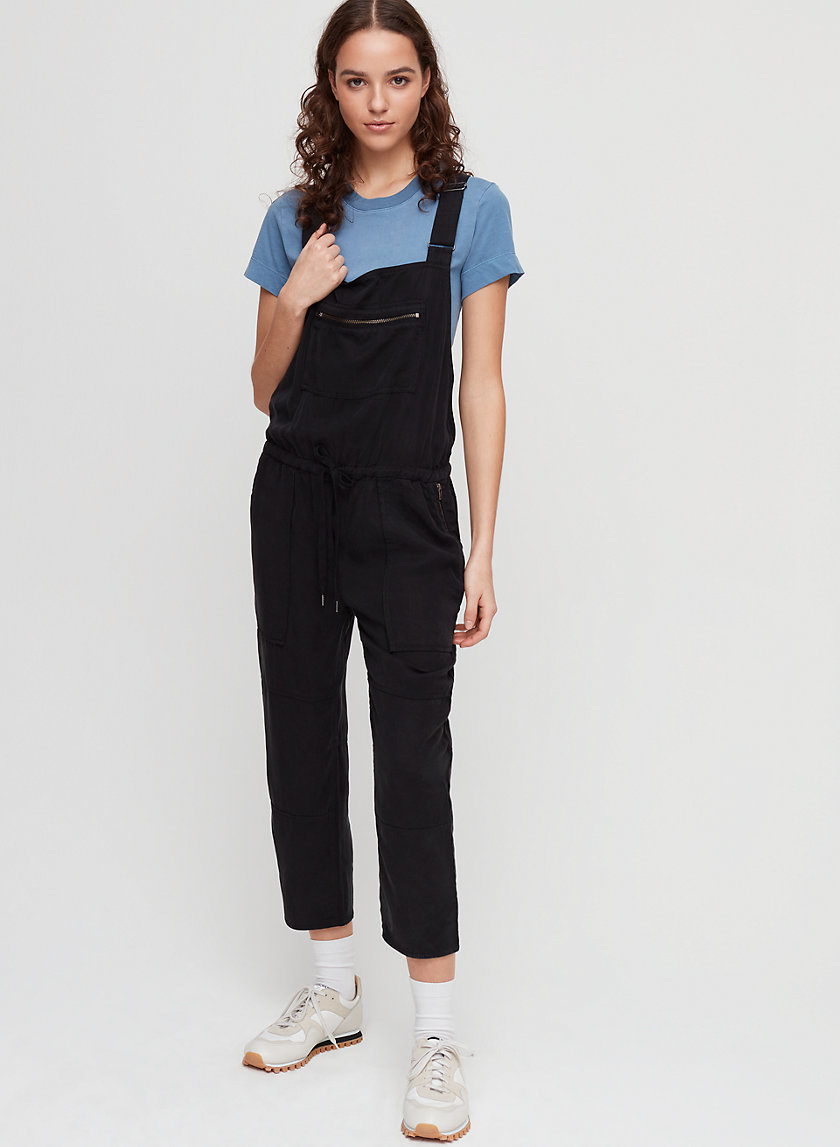 VALLETTA OVERALLS - Cropped twill overalls