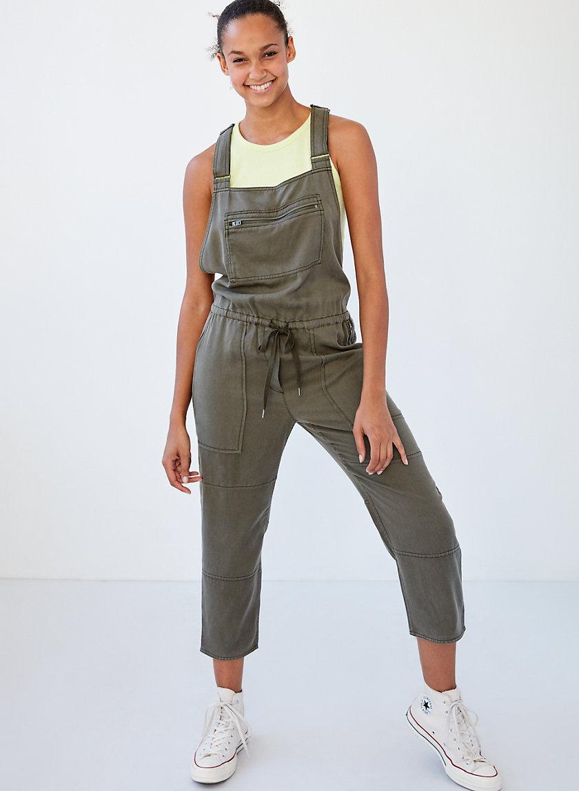 VALLETTA OVERALLS - Cropped twill overalls