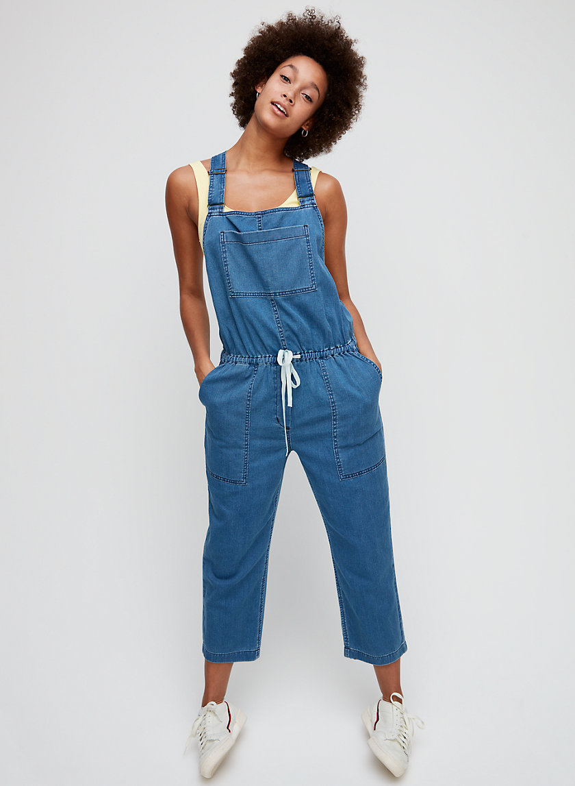 VALLETTA OVERALLS - Cropped, soft denim overalls