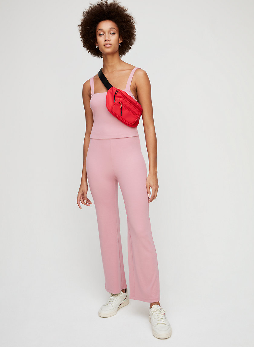 SELITA PANT - Ribbed, high-waisted flared pant
