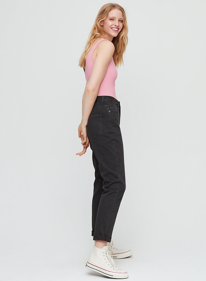 NIKKI RELAXED JEAN - High-waisted tapered jeans