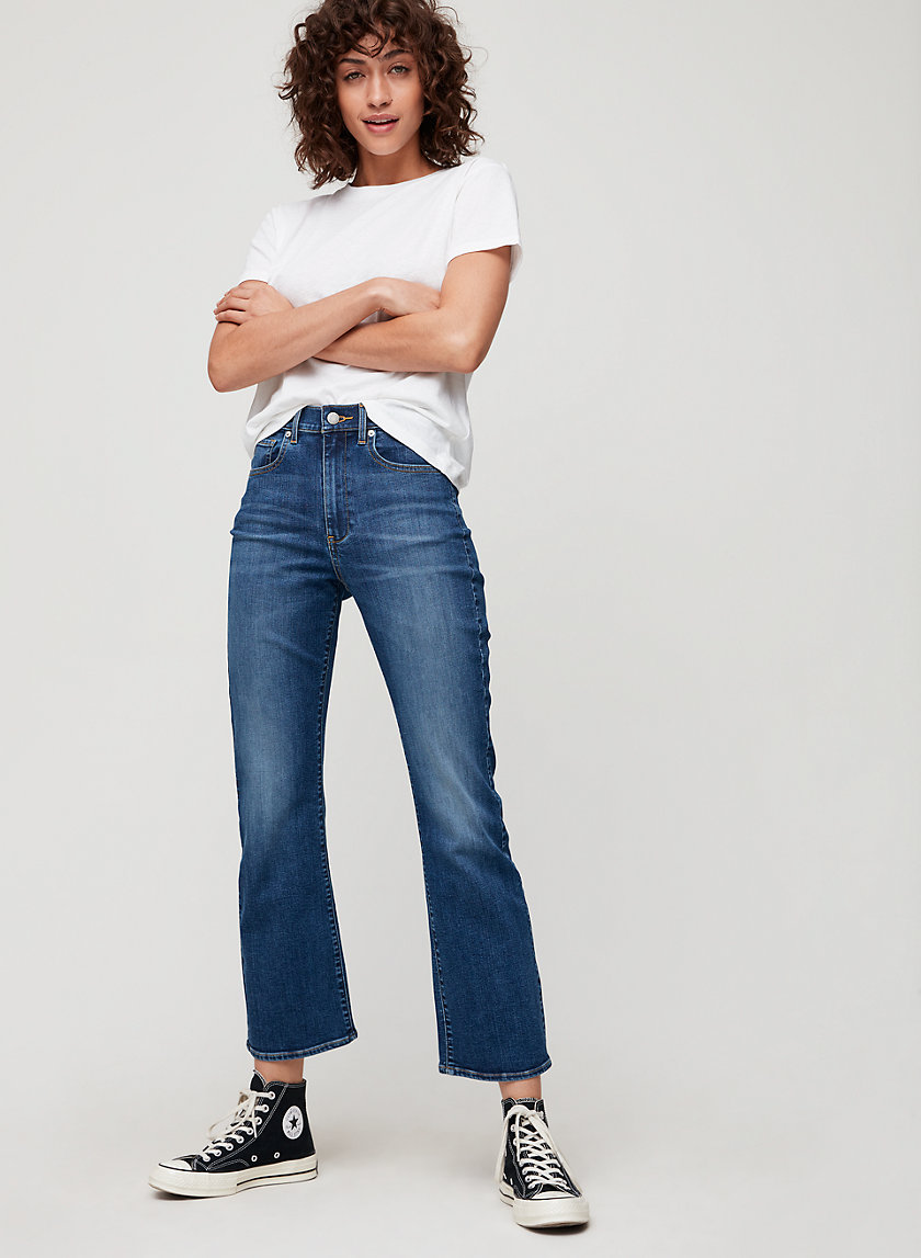 KARLIE KICK FLARE - High-waisted cropped flare jeans