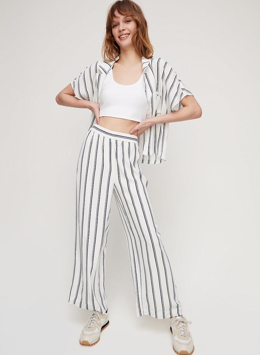SURI PANT - Lightweight, pinstripe wide-leg pant