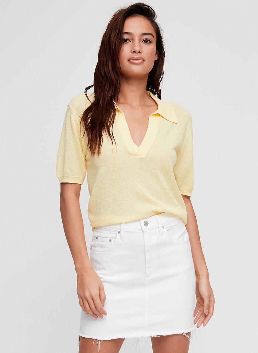 TANIT SKIRT - Denim-like mini skirt
