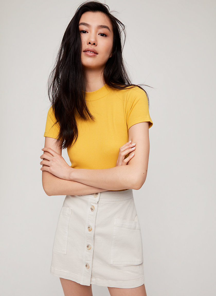 NADIA SKIRT - Front-button mini skirt