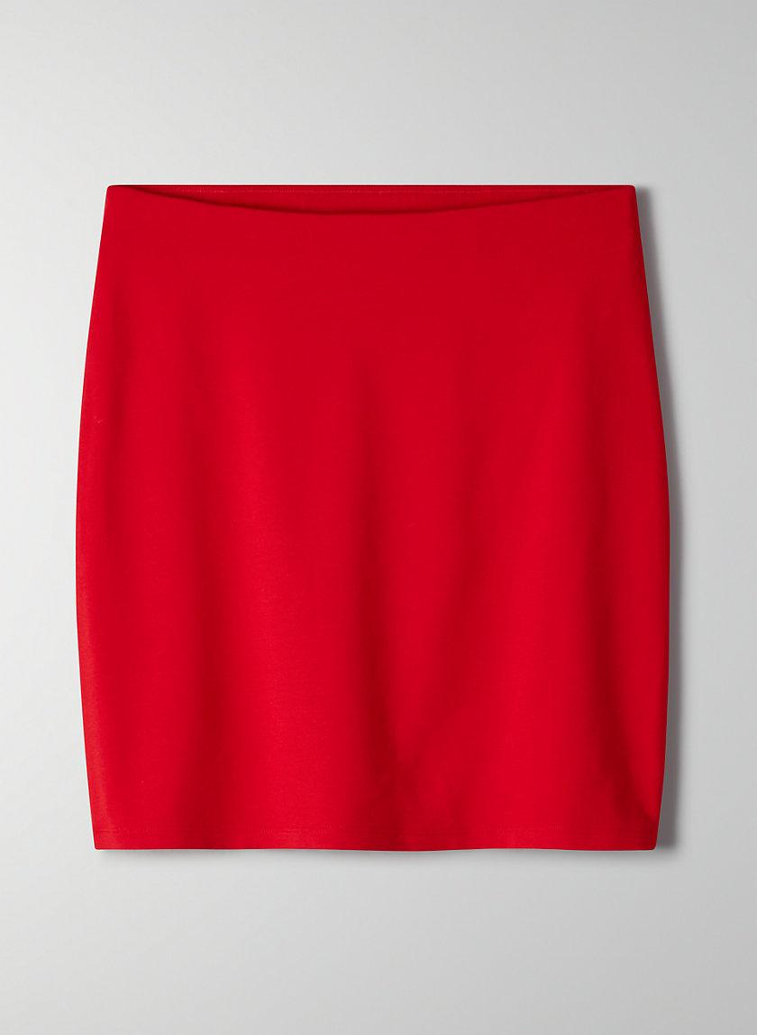 FINLEY SKIRT - Classic, jersey-blend mini skirt