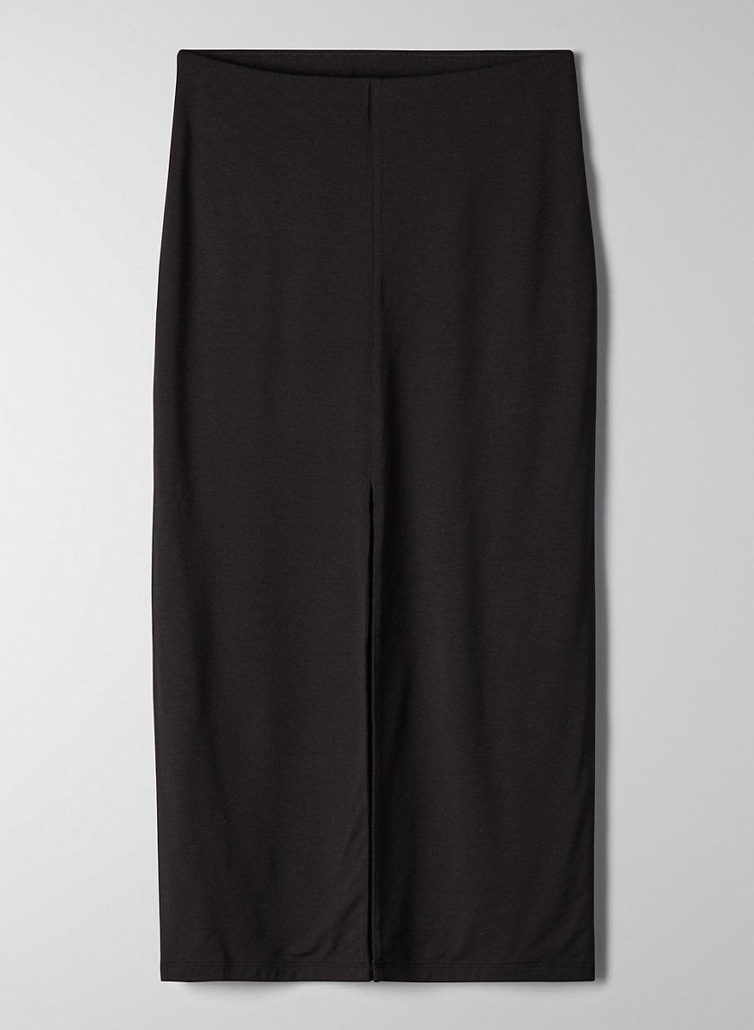 AINA SKIRT - High-waisted pencil skirt with slit