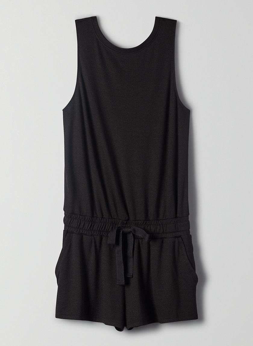 IZABEL ROMPER - Tie-waist, jersey-knit romper