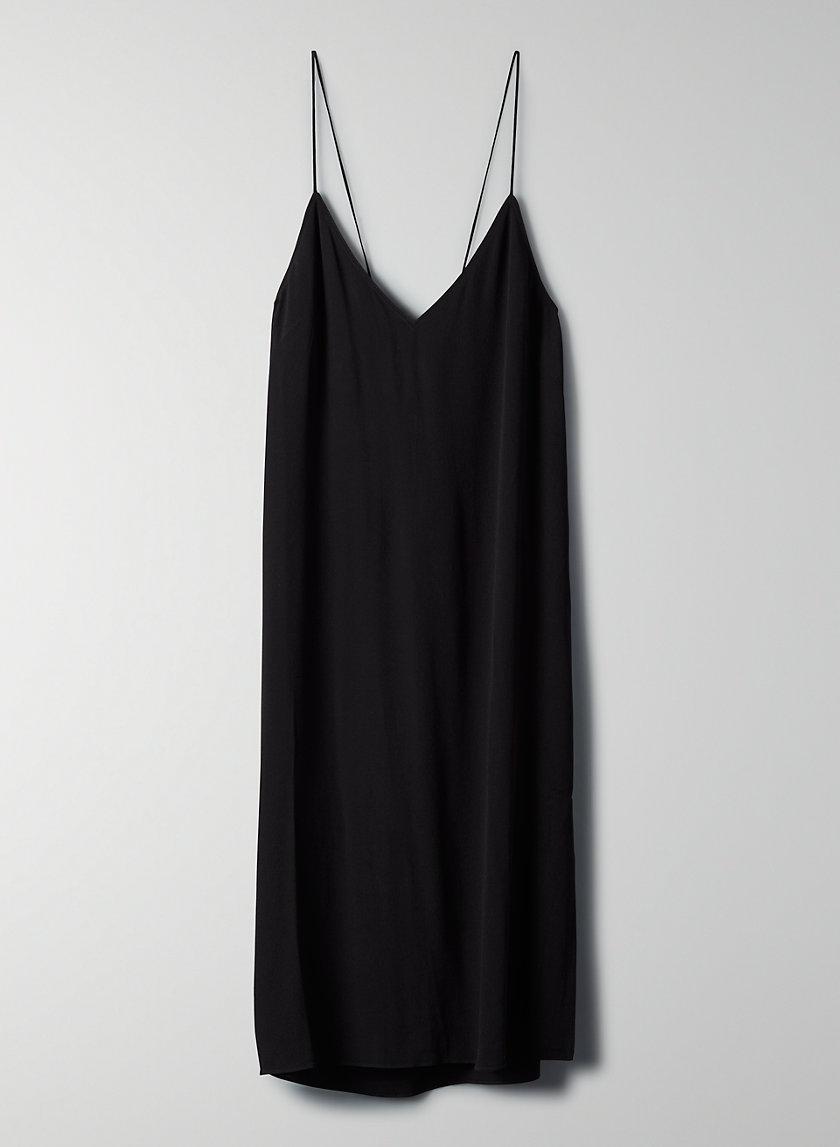 FELICITY DRESS - Side-slit slip dress