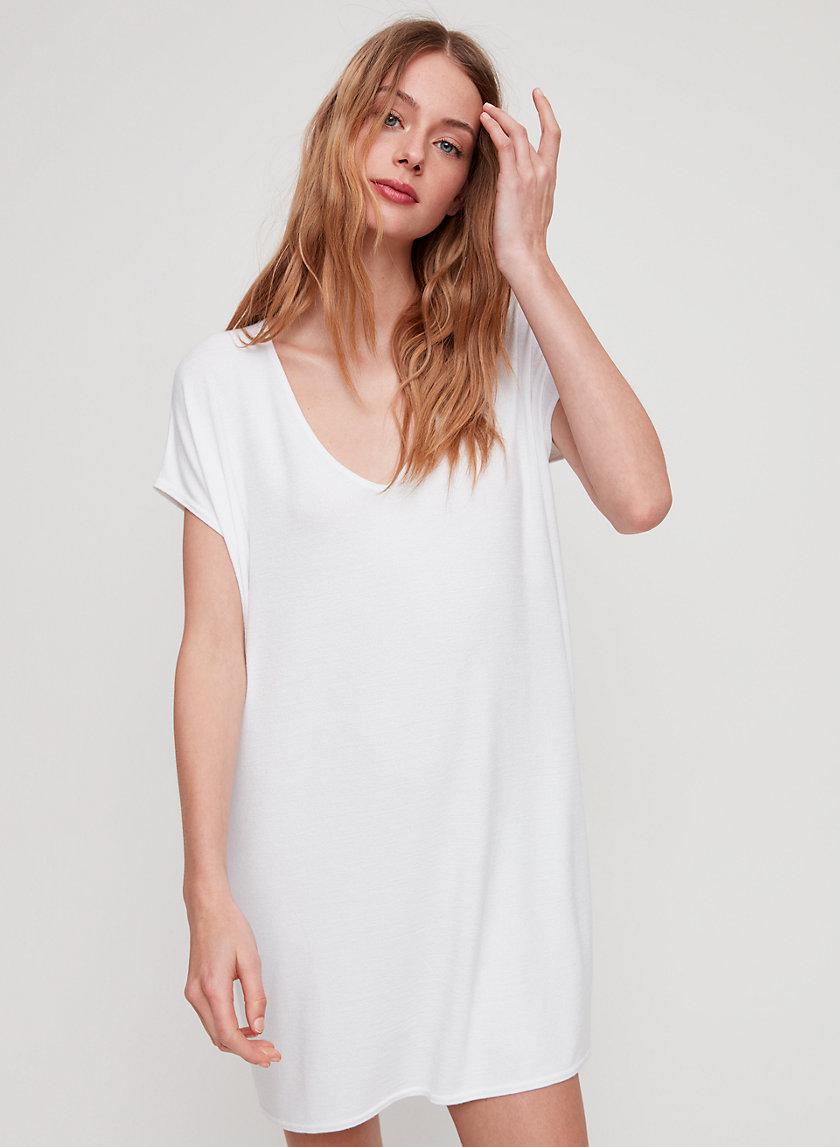 MARCOUX DRESS - Jersey t-shirt dress with pockets