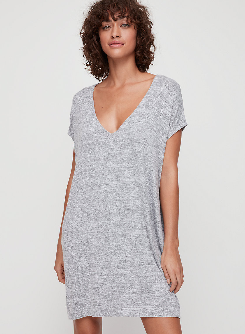 MARCOUX DRESS - Jersey t-shirt dress with pockets