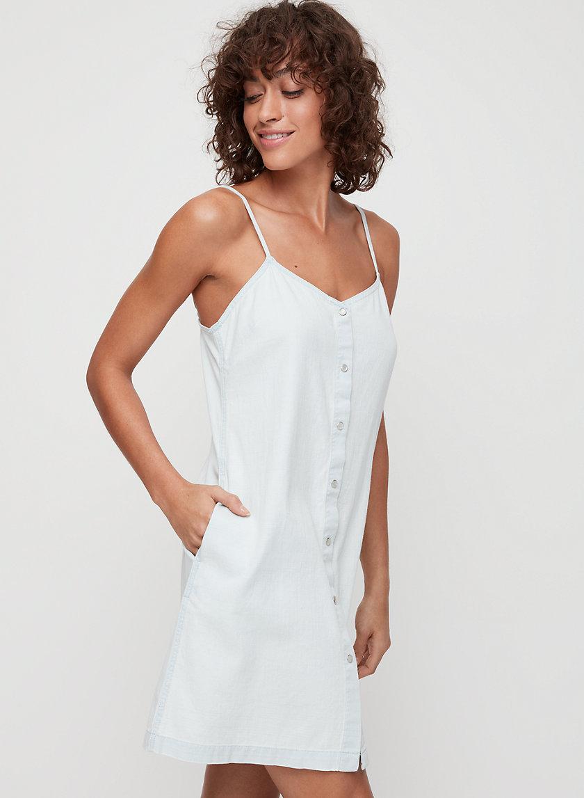 MORGAN DRESS - Button-front denim dress