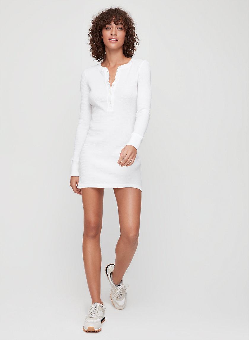 AVA DRESS - Long-sleeve, mini thermal dress