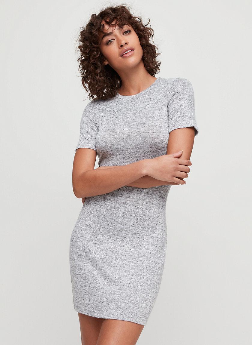 MARA DRESS - Crewneck t-shirt dress