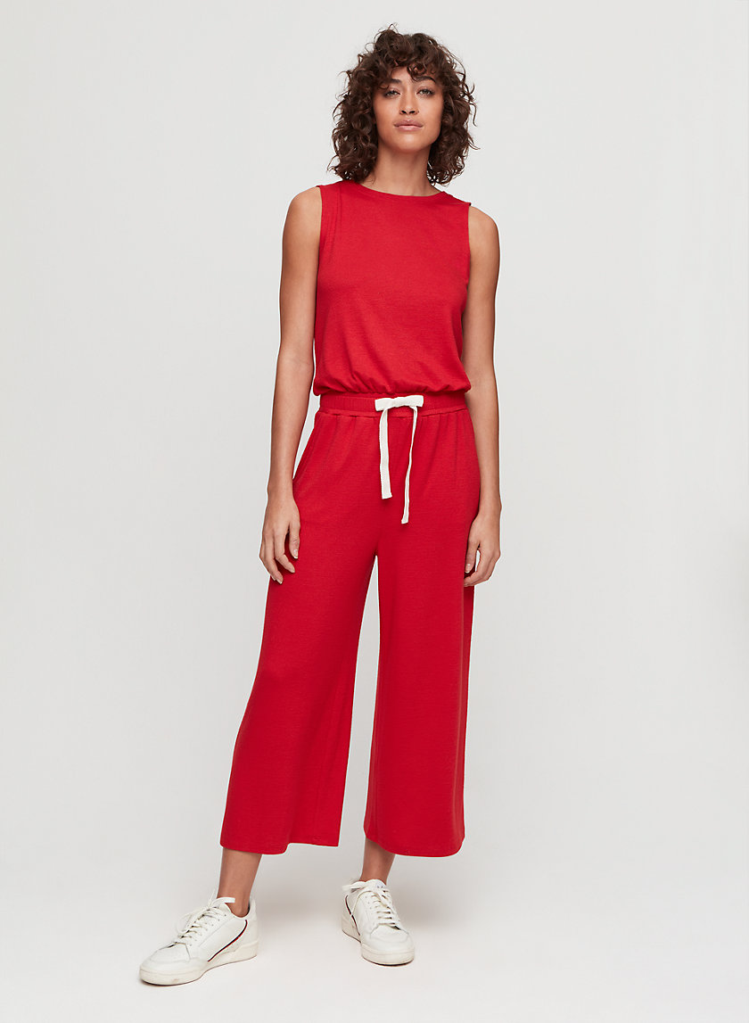 IZABEL JUMPSUIT - Sleeveless, smocked-waist jumpsuit
