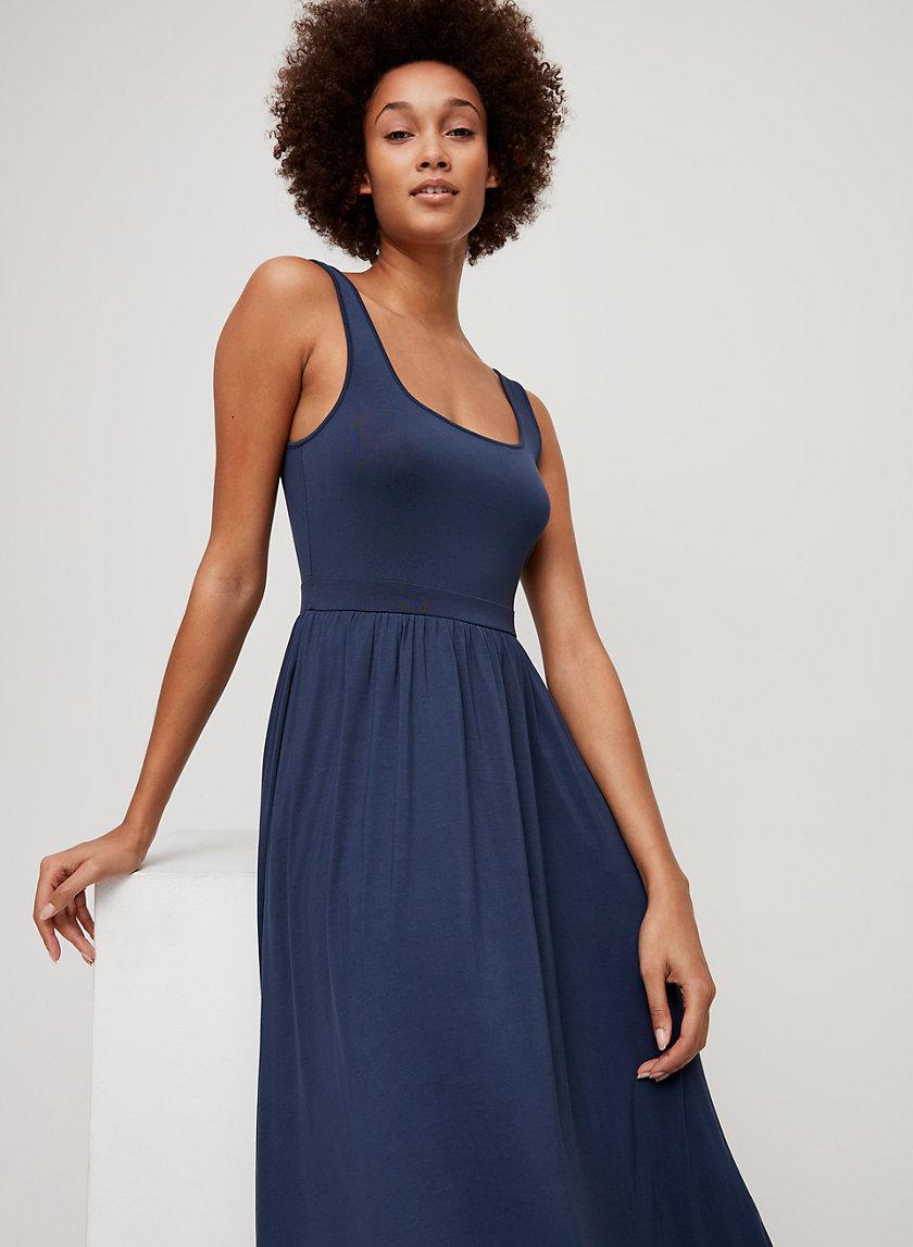 ASSONANCE DRESS - Tank midi dress with pockets