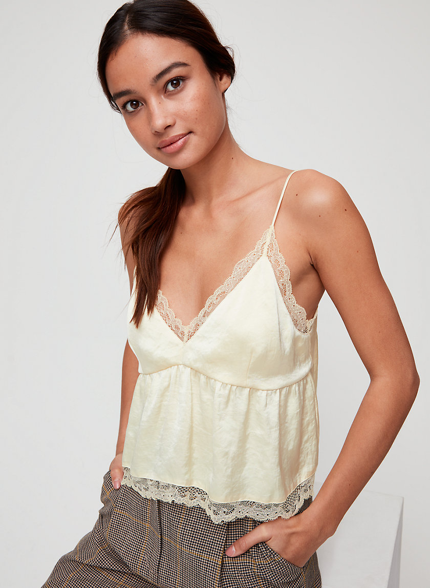 SEDUM CAMISOLE - Cropped, lace-hemmed camisole