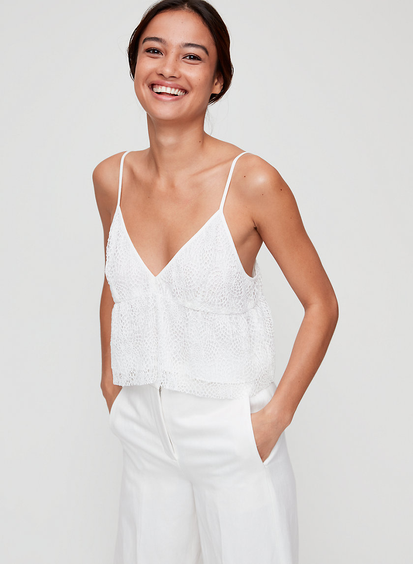 SEDUM CAMISOLE - Cropped, lace camisole