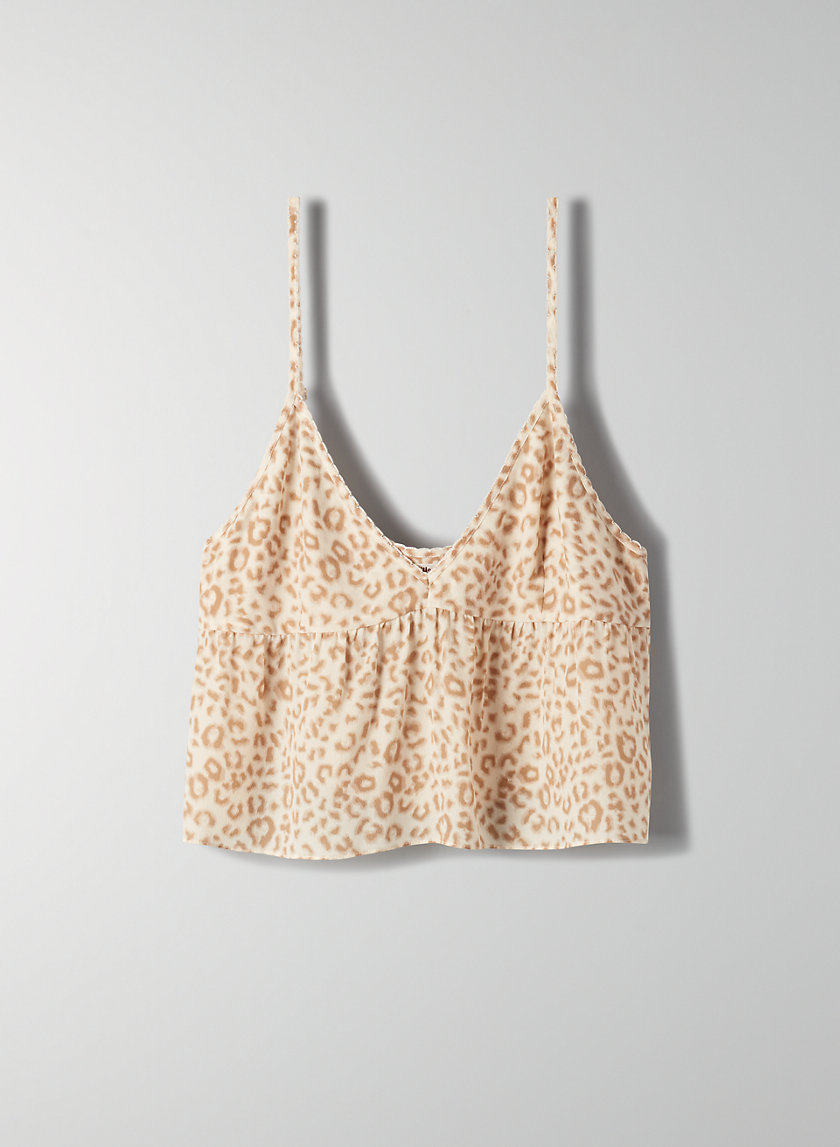 SEDUM CAMISOLE - Cropped, leopard-print camisole