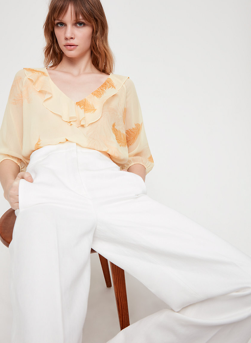 ROSEMARY BLOUSE - Cropped, ruffled blouse