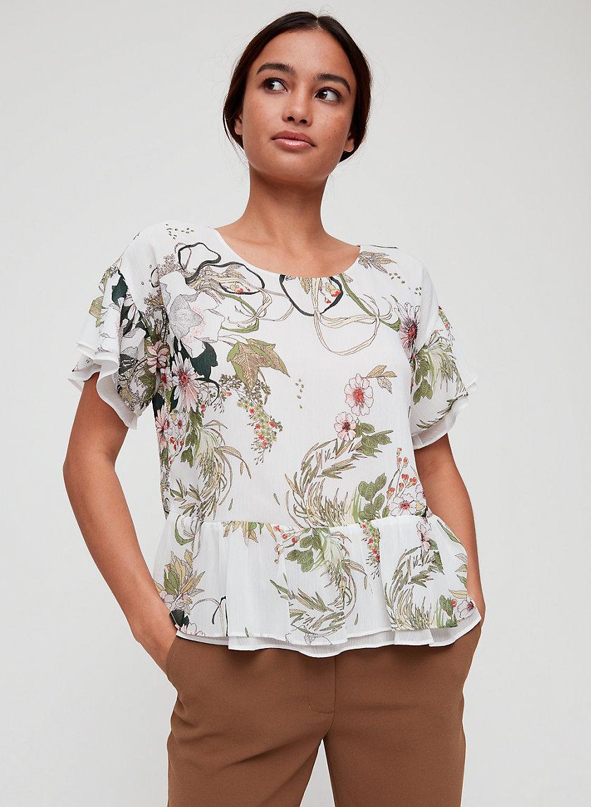 KIARA BLOUSE - Ruffled peplum blouse