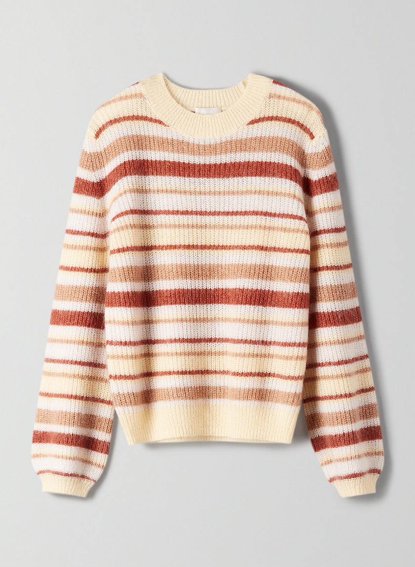 GARDENIA SWEATER - Striped, crewneck sweater