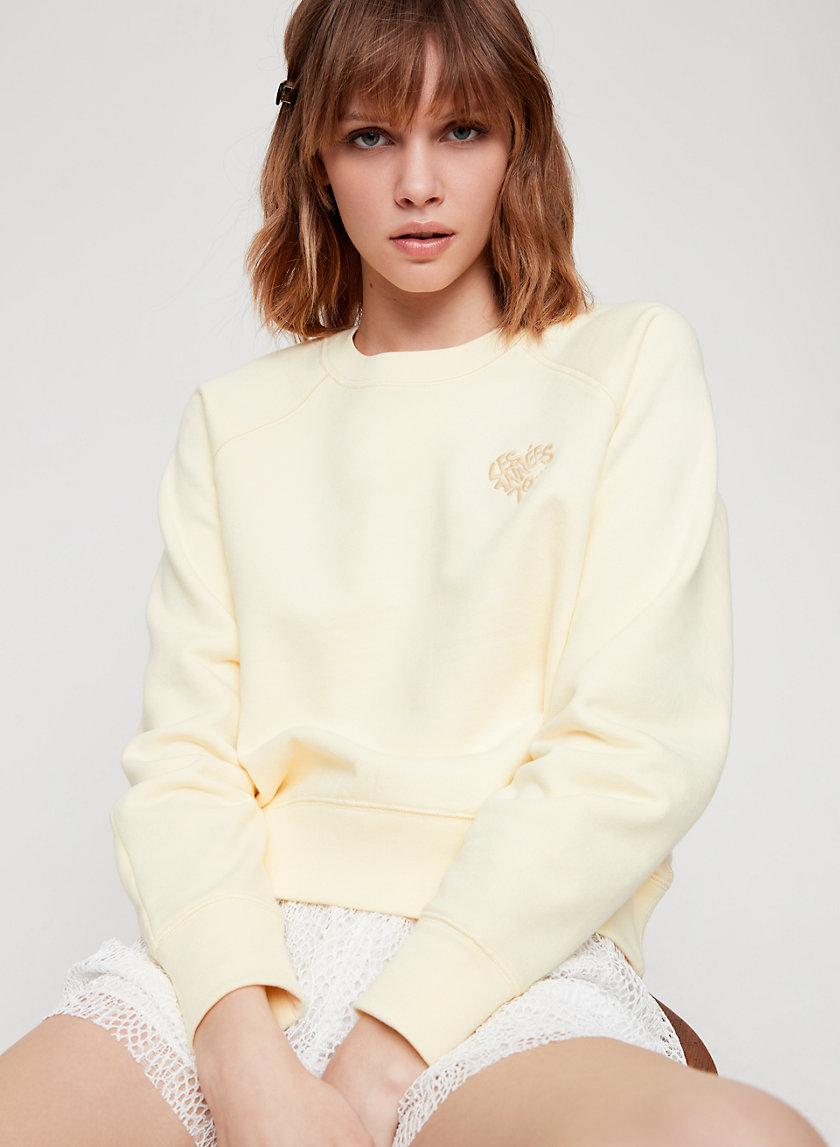 POSEY SWEATSHIRT - Cropped, embroiled sweatshirt
