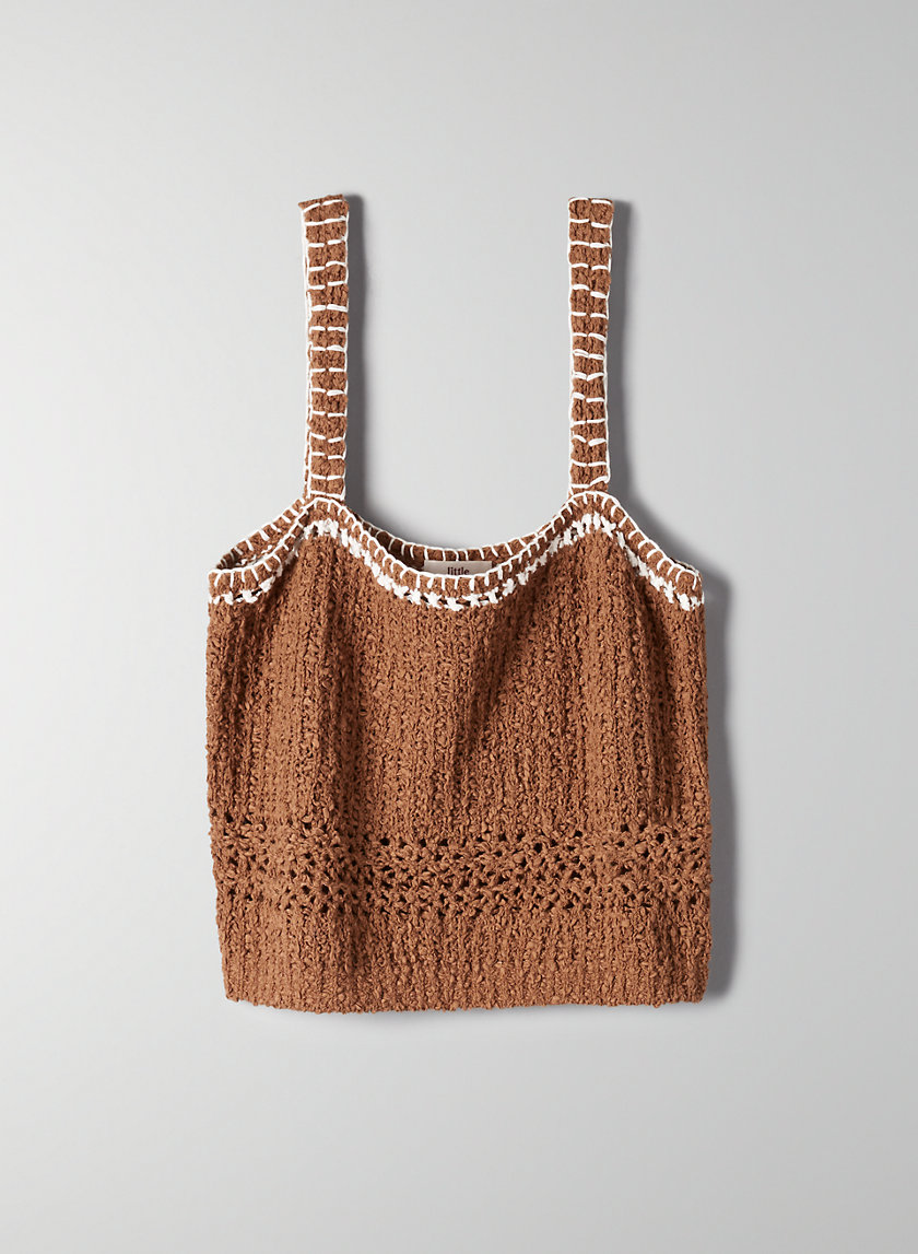 BRYONY KNIT TOP - Cropped, knit camisole