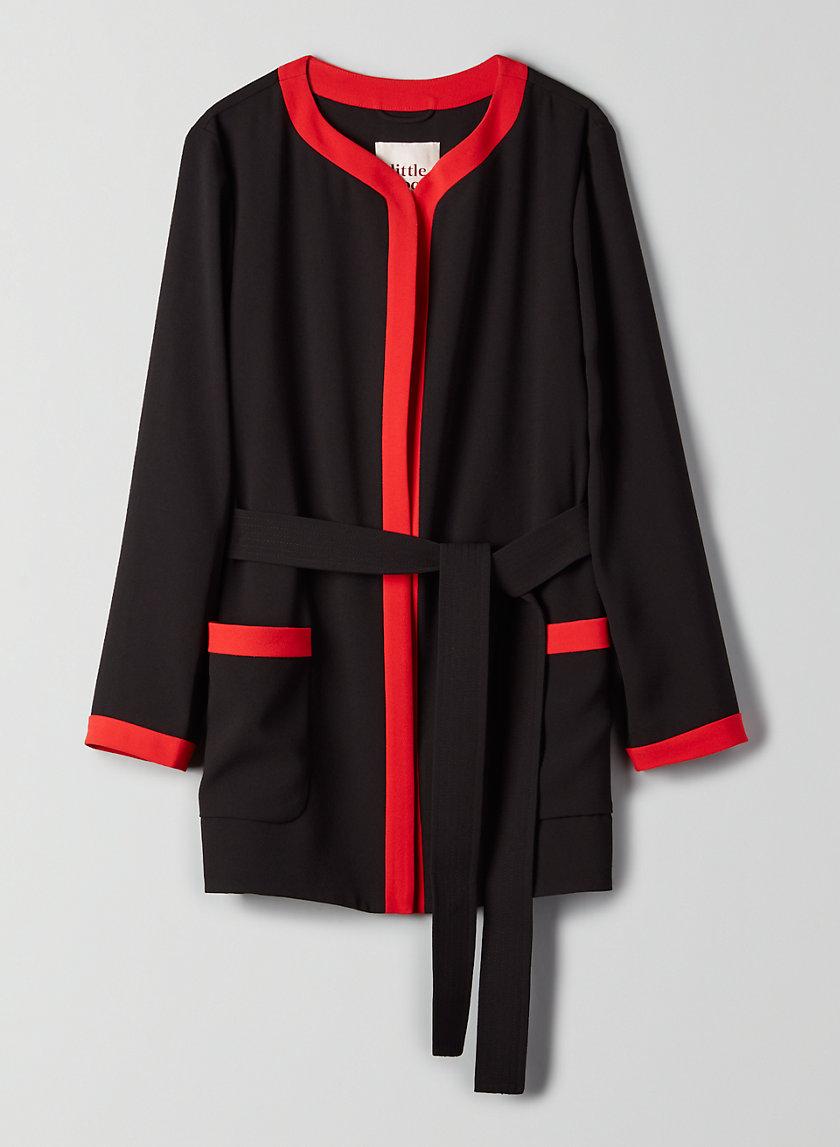 POPPY ROBE - Belted, robe jacket