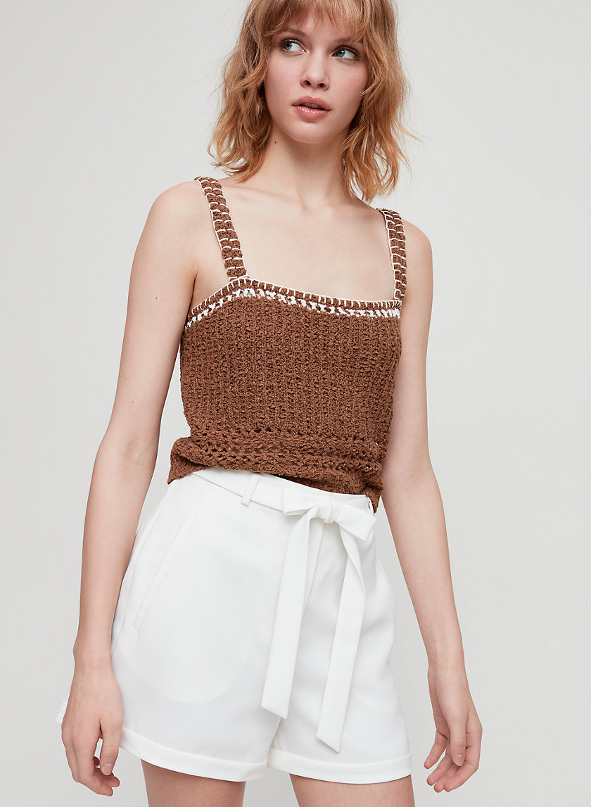 CASSIA SHORT - High-waisted, tie-front shorts