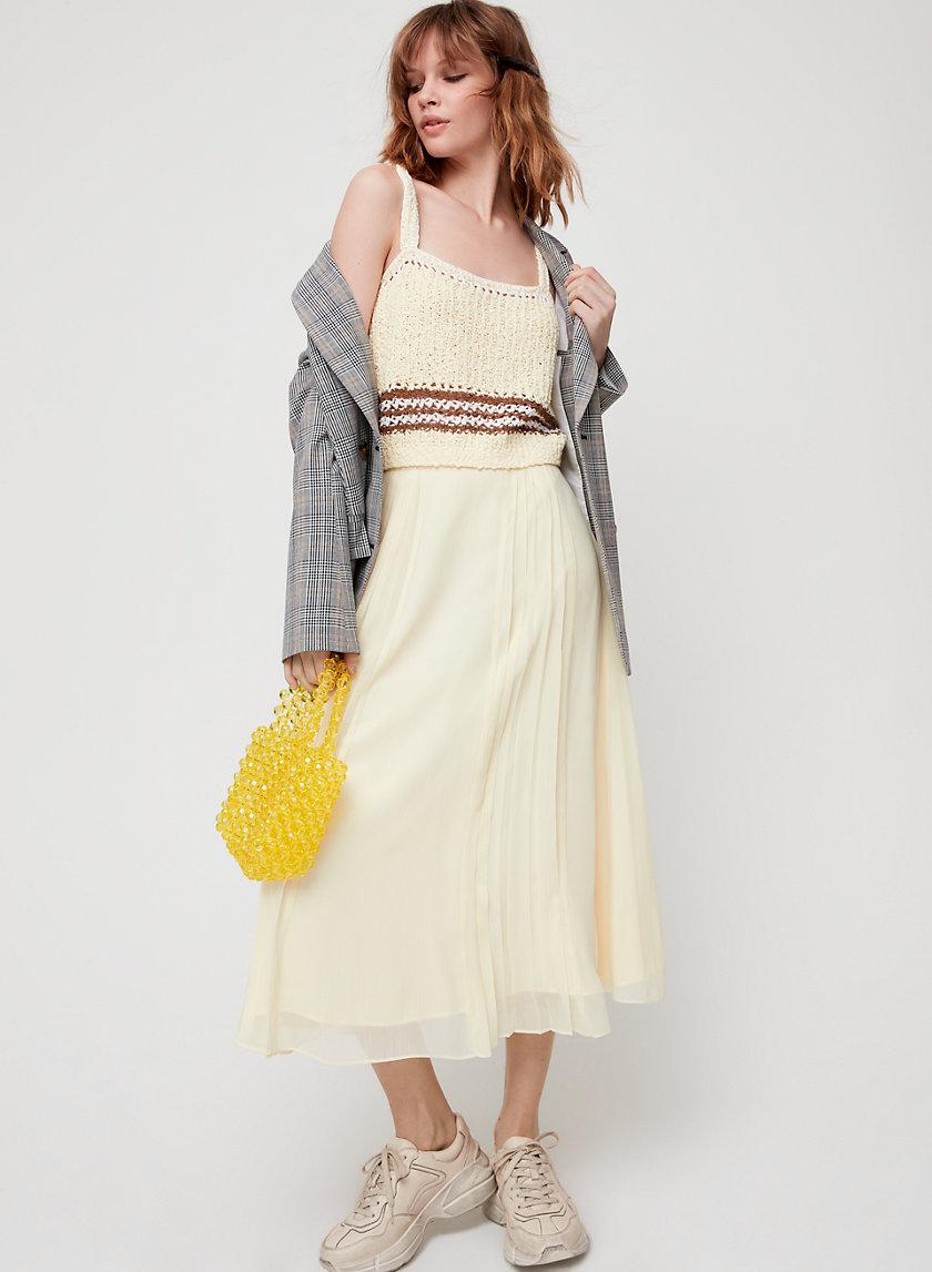PEONY SKIRT - Pleated midi skirt
