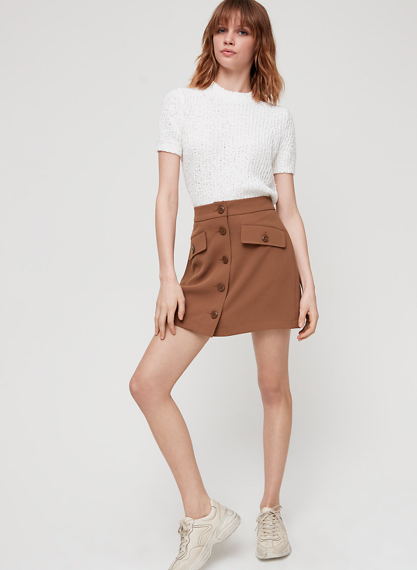 FREESIA SKIRT - Button-front mini skirt