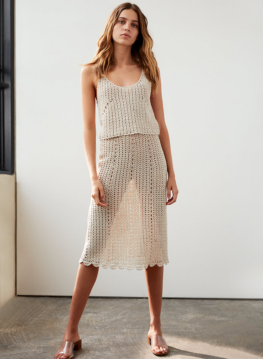 VASCO SKIRT - Crocheted slip skirt